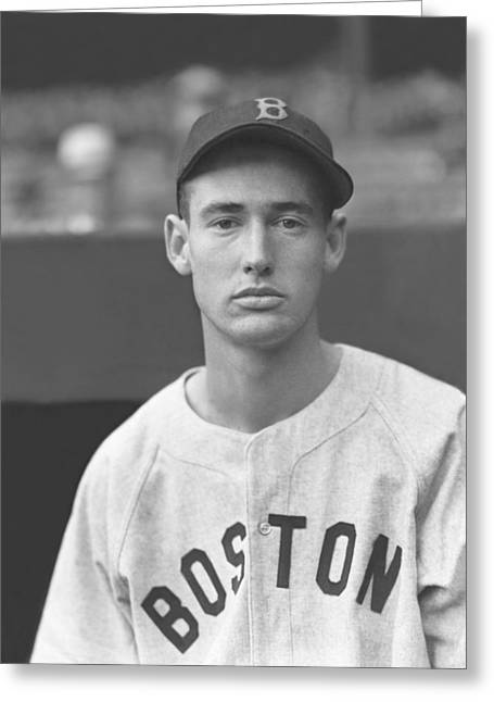 Hall Of Fame Baseball Players Greeting Cards - Theodore S. Ted Williams Greeting Card by Retro Images Archive