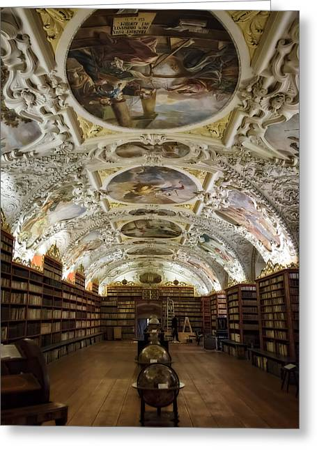 Tome Greeting Cards - Theological Hall Strahov Monastery Greeting Card by Joan Carroll