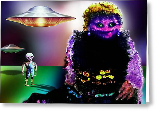 Citizens Mixed Media Greeting Cards - There Are No Aliens Greeting Card by Hartmut Jager