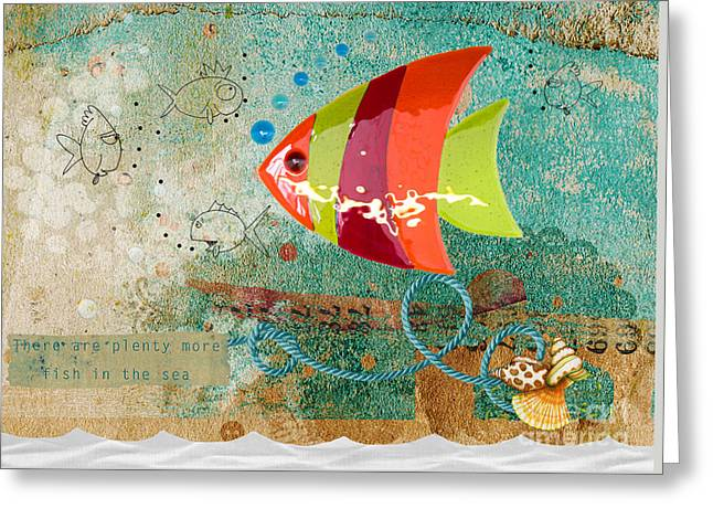 Shell Texture Greeting Cards - There are plenty more fish in the sea Greeting Card by Gillian Singleton