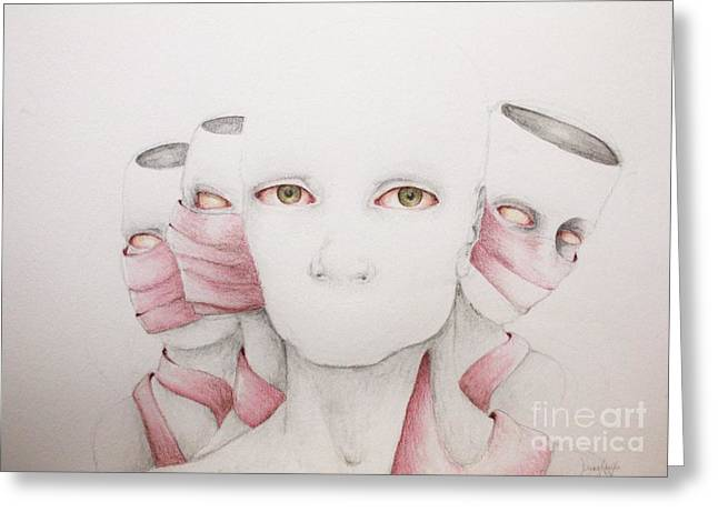Mind Split Greeting Cards - There Can Be Only Us Greeting Card by J Dreag Karski