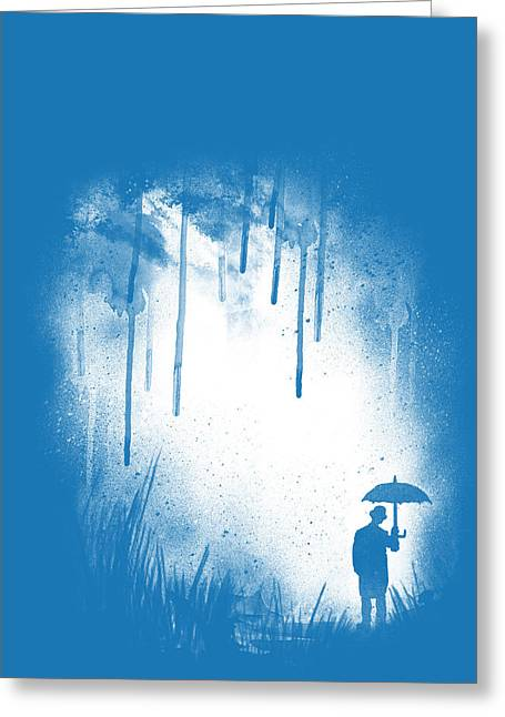 Blue Drip Greeting Cards - There is always a way out Greeting Card by Neelanjana  Bandyopadhyay