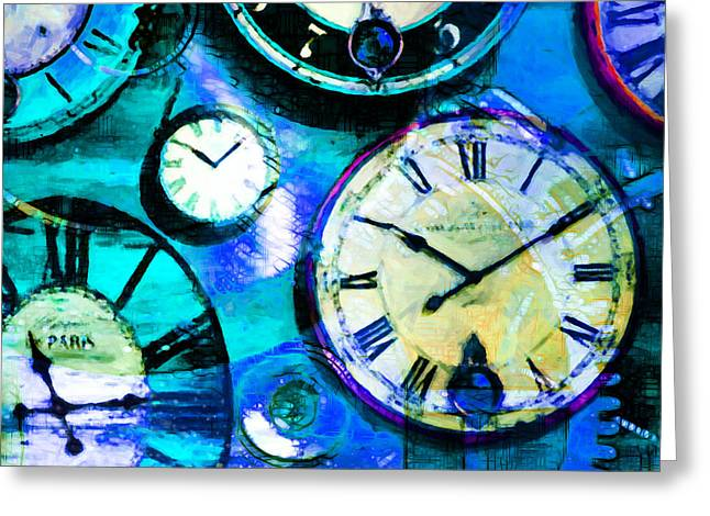 There Is Never Enough Time 5d24472p180 Square Greeting Card by Wingsdomain Art and Photography