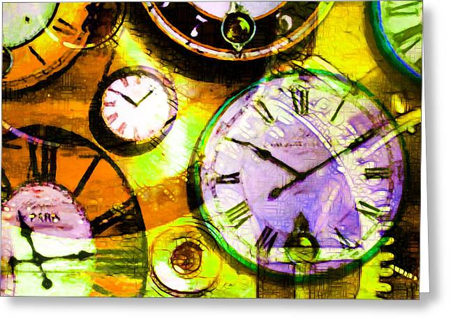 There Is Never Enough Time 5d24472p30 Square Greeting Card by Wingsdomain Art and Photography