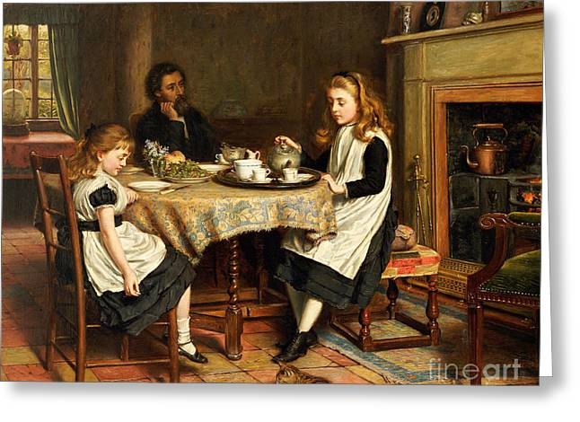 Prejudice Greeting Cards - There is no Fireside... Greeting Card by George Goodwin Kilburne