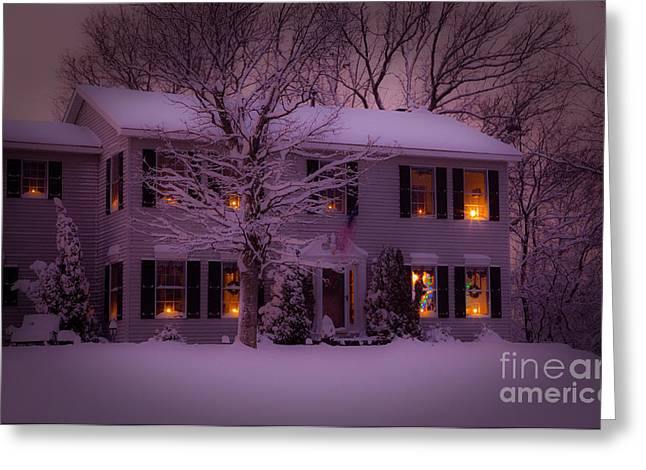 Real Meaning Of Christmas Greeting Cards - There is no place like home for the holidays Greeting Card by Wayne Moran