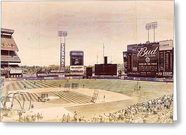 Shea Stadium Greeting Cards - There Used To Be A Ballpark - Shea Stadium Greeting Card by Ron Pearl