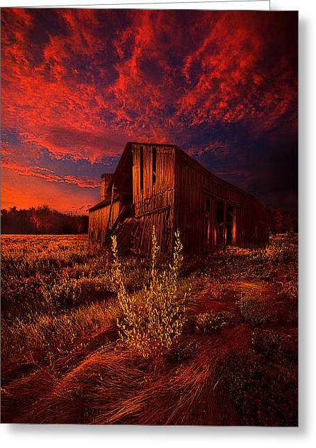Silo Greeting Cards - There Was A Time Greeting Card by Phil Koch