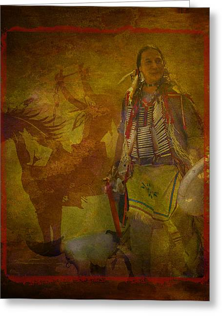 There Was Blood - Tribute To Native Americans Greeting Card by Jeff Burgess