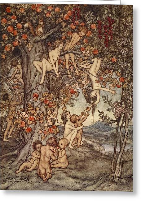 Pandora Greeting Cards - There Was No Danger, No Trouble Of Any Greeting Card by Arthur Rackham
