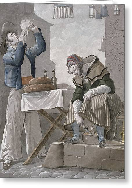 Smoking Greeting Cards - Theres No Smoke Without Fire Greeting Card by Antoine Charles Horace Vernet