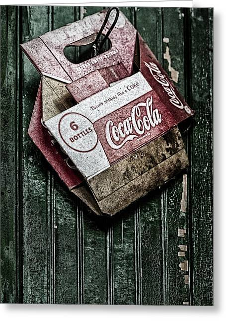 Theres Nothing Like A Coke Greeting Card by Susan Candelario