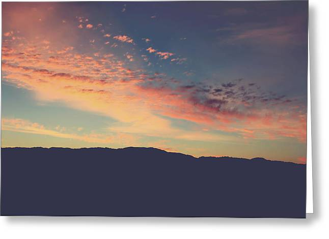Pink Clouds Greeting Cards - Theres Only Here and Now Greeting Card by Laurie Search