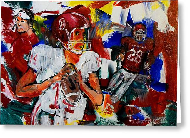 Heisman Greeting Cards - Theres Only One...Oklahoma Greeting Card by Larry Carter