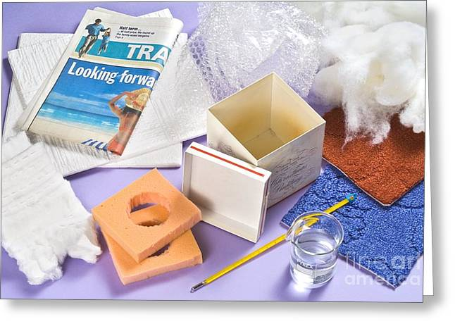 Cardboard Greeting Cards - Thermal Insulation Experiment Greeting Card by Martyn F. Chillmaid