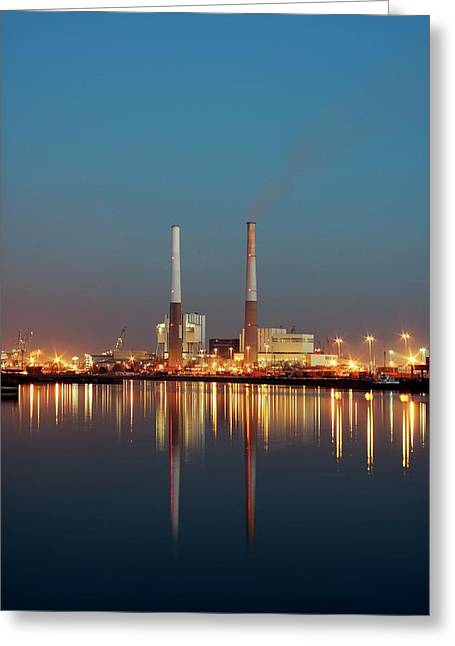 Thermal Power Station Greeting Card by Alex Bartel