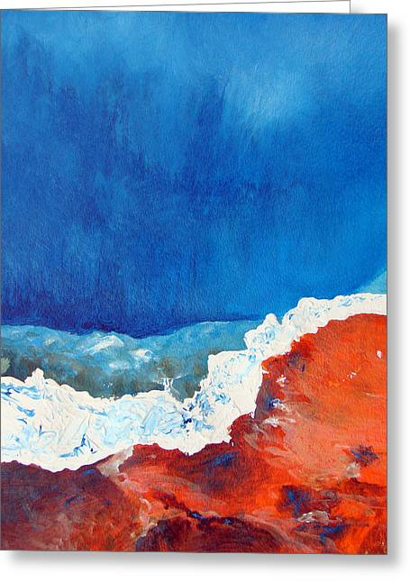 Acrylic Print Greeting Cards - Thermal Shift Greeting Card by Abbie Groves