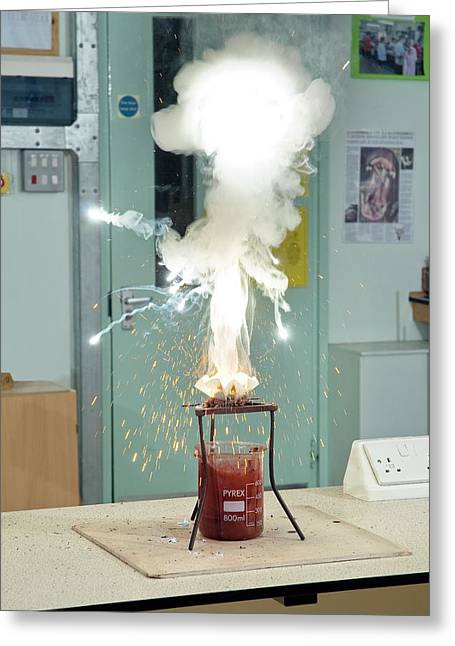 Thermite Reaction Demonstration Greeting Card by Trevor Clifford Photography