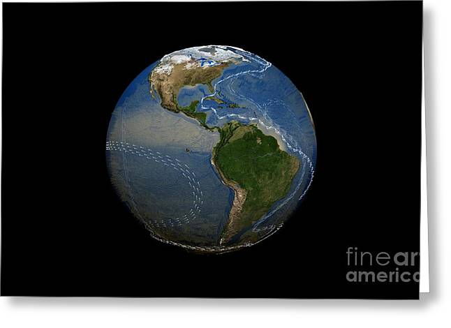 Large Scale Photographs Greeting Cards - Thermohaline Circulation, Artwork Greeting Card by Nasa