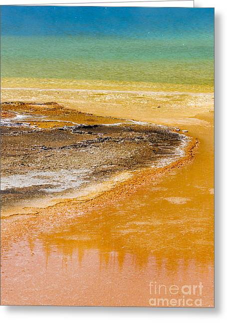 Hot Springs Yellowstone Midway Hot Springs Yellowstone Hot Greeting Cards - Thermophiles at Grand Prismatic Spring Greeting Card by Mike Cavaroc