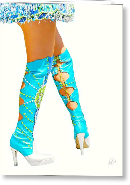 Short Skirt Greeting Cards - These Boots Greeting Card by Diana Angstadt