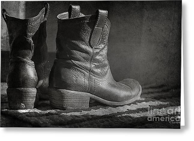 These Boots Greeting Card by Terry Rowe