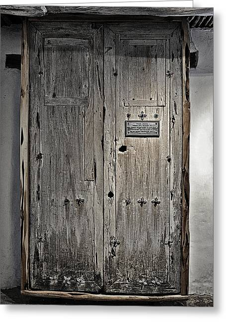 These Doors Tell A Long Story Greeting Card by Christine Till