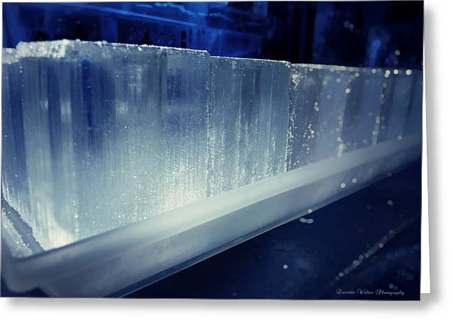 Absolut Greeting Cards - These Ice Glasses Are Absolut Ready Greeting Card by Lucinda Walter