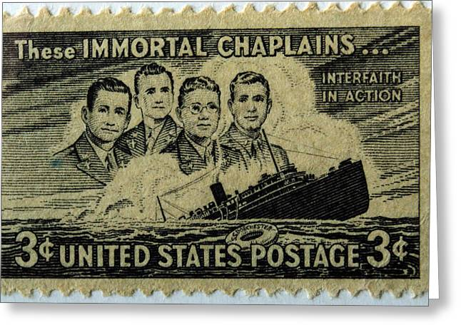 Chaplain Greeting Cards - These IMMORTAL CHAPLAINS Greeting Card by Roger Reeves  and Terrie Heslop