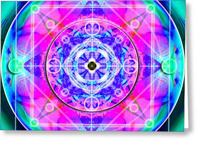 Algorithmic Abstract Greeting Cards - Theta-Focus One Greeting Card by Sterling Thunder