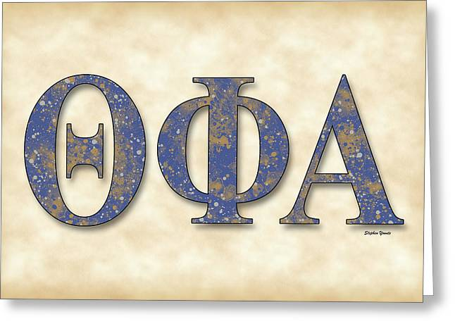 Theta Greeting Cards - Theta Phi Alpha - Parchment Greeting Card by Stephen Younts