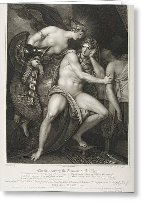 Thetis Bearing The Armour To Achilles Greeting Card by British Library
