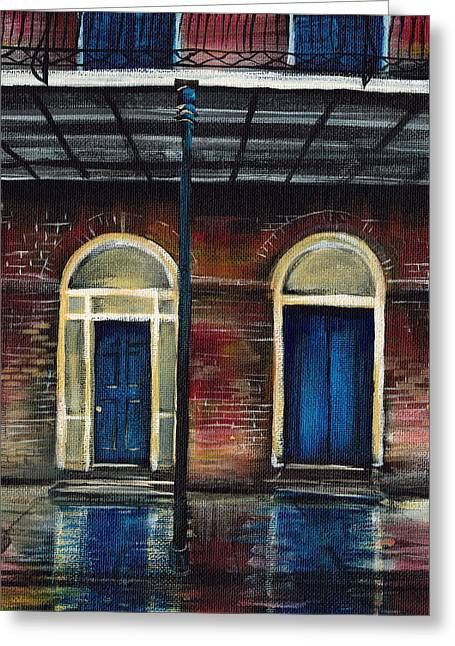 Flooding Paintings Greeting Cards - They Arent All Locked Greeting Card by Gretchen  Smith