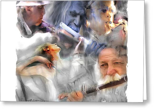 Saxaphone Greeting Cards - They Came To Play Greeting Card by Bob Salo