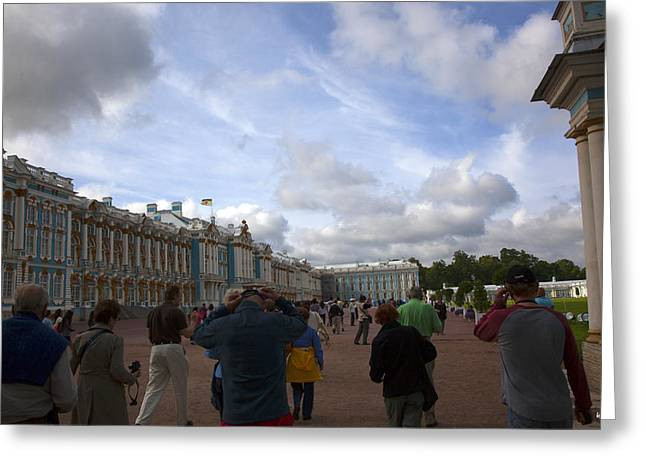 Tourist Site Greeting Cards - They Come to Catherine Palace - St. Petersburg - Russia Greeting Card by Madeline Ellis