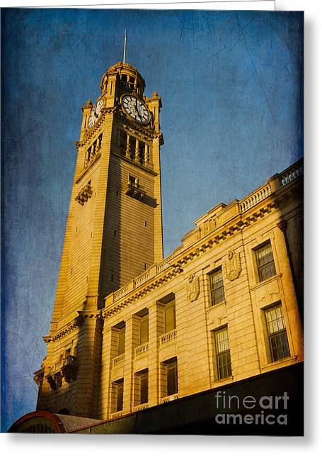 20th Greeting Cards - They dont build them how they used to - Clock Tower of Central Station Sydney Australia Greeting Card by David Hill