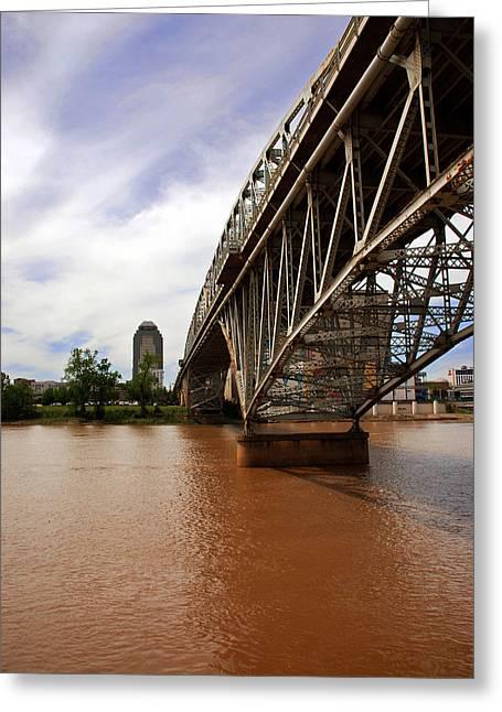 Cajun Cafe Greeting Cards - They dont call it Red River for nothing Greeting Card by Max Mullins