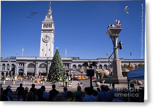 Angel Blues Greeting Cards - They Dont Do Christmas In San Francisco The Way We Do It In Kansas Betsy Jane DSC1745 Greeting Card by Wingsdomain Art and Photography