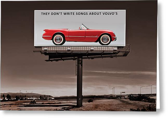 Billboard Greeting Cards - They Dont Write Songs Greeting Card by Mark Rogan