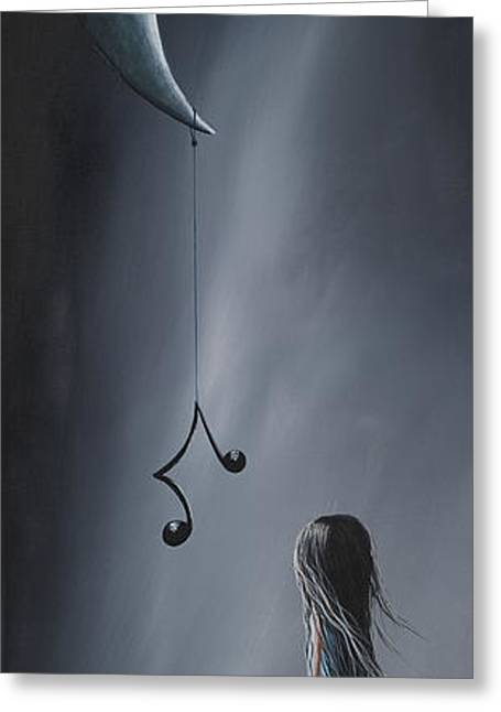 Music Notes Greeting Cards - They Feel Your Love Song - Surreal Art by Shawna Erback Greeting Card by Shawna Erback
