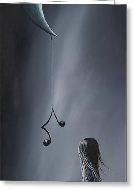 They Feel Your Love Song - Surreal Art By Shawna Erback Greeting Card by Shawna Erback
