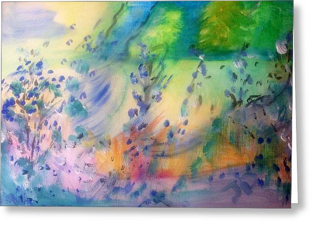 Disability Paintings Greeting Cards - They stopped my DLA Greeting Card by Judith Desrosiers