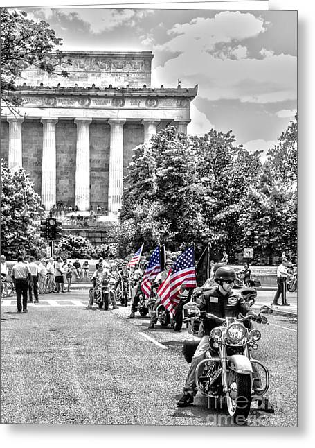 Rally Greeting Cards - They Will Not Forget Greeting Card by Tom Gari Gallery-Three-Photography