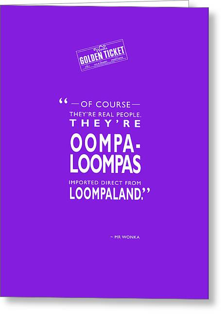 Factory Photographs Greeting Cards - Theyre Oompa Loompas Greeting Card by Mark Rogan