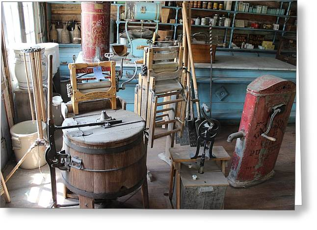 Best Sellers -  - Historic Country Store Greeting Cards - Theyve Come A Long Way Greeting Card by Mark Eisenbeil