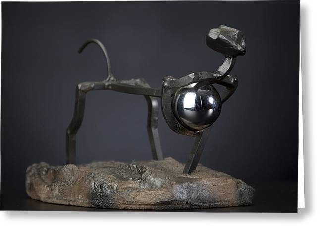 Steel Sculptures Greeting Cards - Thief of World Greeting Card by Tom Wright