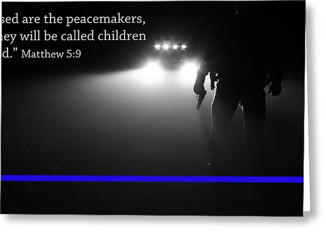 Thin Blue Line Greeting Card by Jerry Mann