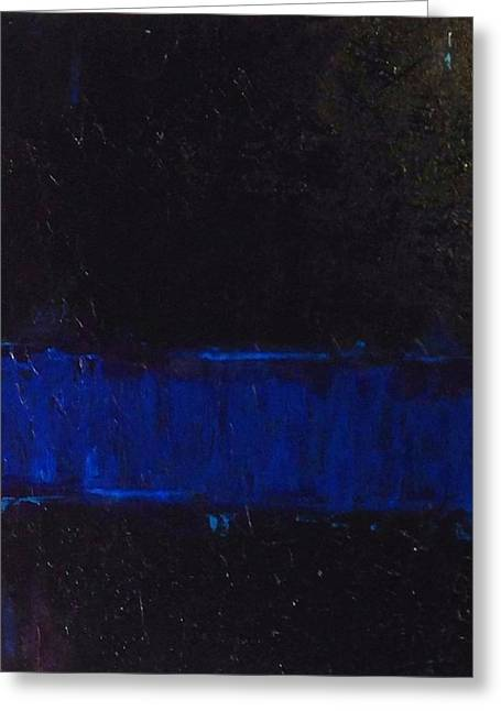 Law Enforcement Paintings Greeting Cards - Thin Blue Line Greeting Card by Sarah Jane Thompson