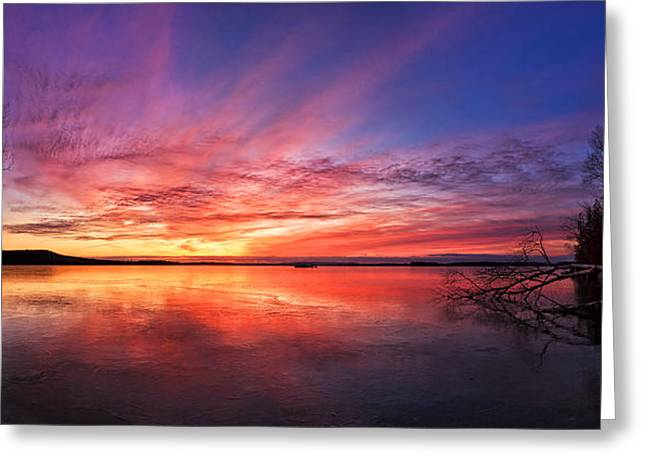 Abeautifulsky Greeting Cards - Thin Ice 1 Panorama Greeting Card by Bill Caldwell -        ABeautifulSky Photography