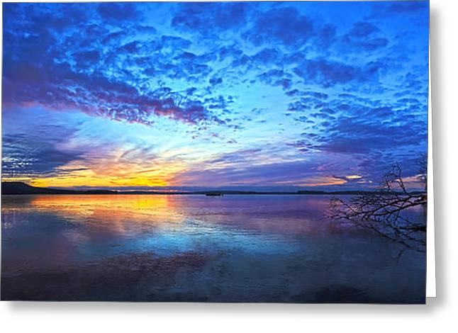 New England Winter Greeting Cards - Thin Ice 2 Panorama Greeting Card by Bill Caldwell -        ABeautifulSky Photography